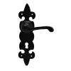 4trade Black Antique Ornate Lever Lock