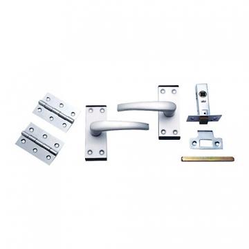 4trade Oxford Complete Latch Door Pack Satin Anodised Aluminium