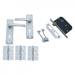 4trade Manila External Door Pack Satin Anodised Aluminium 3l