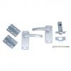 4trade Manila Complete Latch Door Pack Satin Anodised Aluminium