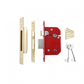 4trade Bs3621 5 Lever Mortice Sashlock Brass Ce Fire Tested 76mm