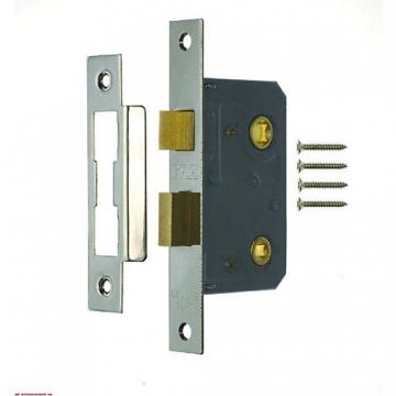 4trade Mortice Bathroom Lock Chrome 64mm