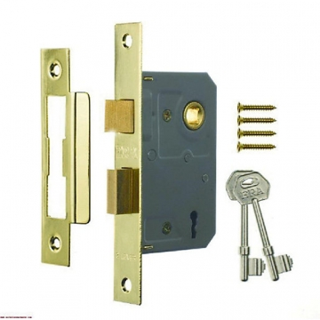 4trade Mortice Sashlock 3 Lever Brass 64mm