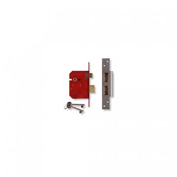 Union 5 Lever Mortice Lock Satin 64mm