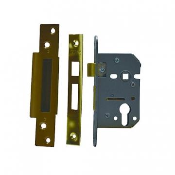 4trade Mortice Sashlock Case Euro Profile Brass 64mm