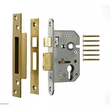 4trade Mortice Sashlock Case Euro Profile Brass 76mm