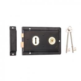 4trade Reversible Rim Lock Black 150mm X 100mm