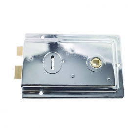 4trade Chrome Rim Lock 152mm X 102mm