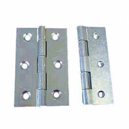 4trade Butt Hinges Fixed Pin Zinc Plated 75mm Pack Of 2
