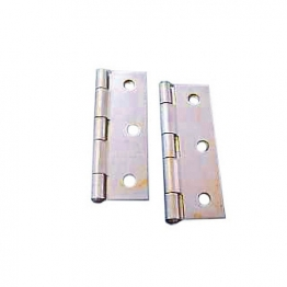 4trade Butt Hinges Fixed Pin Self Colour 75mm Pack Of 2