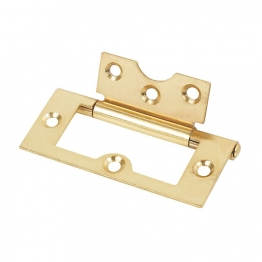 4trade Hinges Flush Electro Brass 60mm (pack Of 2)