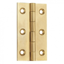 4trade Brass Solid Drawn Hinge 63mm (pack Of 2)