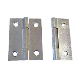 4trade Butt Hinges Zinc Plated Fixed Pin 50mm (pack Of 2)