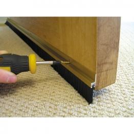 Stormguard Door Strip Bottom 838mm Gold Brush Bds
