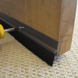 Stormguard Door Strip Bottom Plastic Brown 838mm