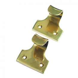 Sash Window Lift Handle Brass 50mm 2 Pack