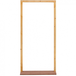 External Softwood Door Frame To Suit 2'6x6'6 Door. With Hardwood Sill, Inward Opening. (fn26m)