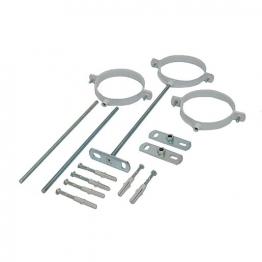 Adjustable Flue Support Clips 60mm-100mm Pack Of 3
