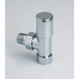 Iflo Column Angled Radiator Valves (pair) 15mm