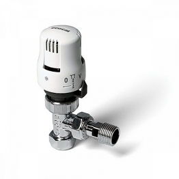Altecnic 200420 Ltc Ecocal Angled Body Thermostatic Radiator Valve White Head 10mm
