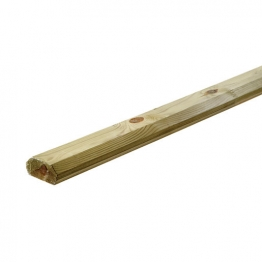 Large Traditional Decking Base Rail - 32mm X 68mm X 2.4m