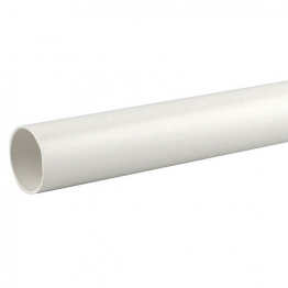 Osmaweld 5z073w 40mm Plain Ended Pipe White 3m