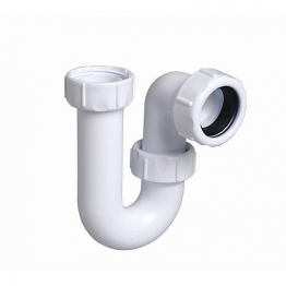 Multikwik P040 40mm Tubular Swivel Trap White