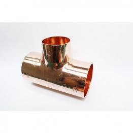 Jw Copper Endfeed Tee Reduced Branch 54mm X 54mm X 42mm