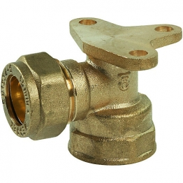 Wallplate Elbow Dzr Compression 15mm X 1/2in