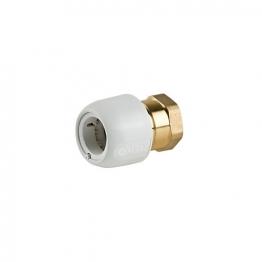 Hep2o Hx28/22w Brass Adaptor Female 3/4in X 22mm White