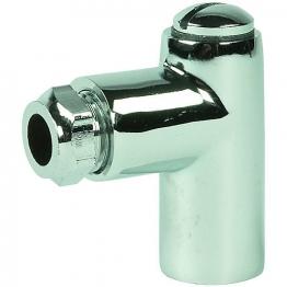 Chrome Gas Restrictor Elbow 8 X 50mm