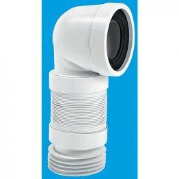Mcalpine 90 Degree Flexible Tail Wc Connector Wc-con8f