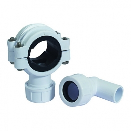 Mcalpine Clamp1wh White Pipe Clamp Connector