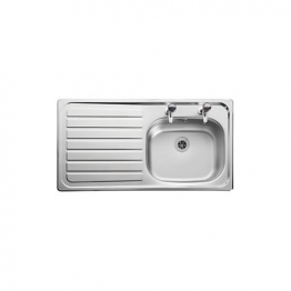 Leisure Lexin Stainless Steel 1 Bowl Left Drainer Sink Nitto Le95l 950mm X 508mm
