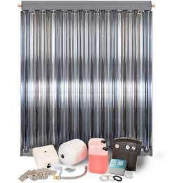 Solfex 1 X Cpc12 Inox Vacuum Tube Solar Thermal Prestige Pack Slate