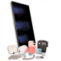 Solfex 2 X Fk250p On Roof Solar Thermal Prestige Pack Tile