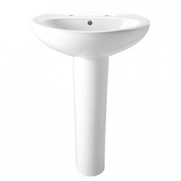 Basin & Pedestal With 2 Tap Hole