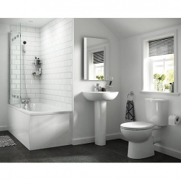 Iflo Cascada Basin With 1 Tap Hole, Pedestal, Wc And Seat
