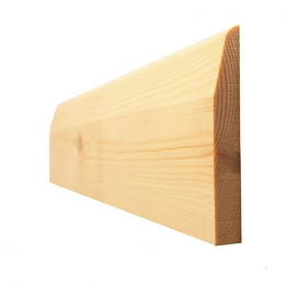 Timber Chamfered & Rounded/pencil Round Skirting Standard 19x100mm (fin Size 14.5x94mm)