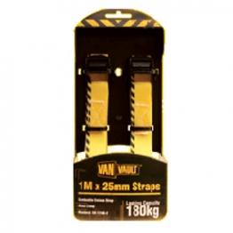 Van Vault Cambuckle Endless Strap Metal Clasp Black 3.2m X 25mm (pair)