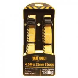Van Vault Cambuckle Endless Strap Metal Clasp Black 4.5m X 25mm (pair)