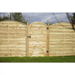 Europa Curved Timber Gate Curved Pressure Treated 1800mm X 1000mm