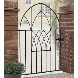 Burbage Ab52 Abbey Low Bow Top Metal Black Garden Gate 1340mm X 914mm