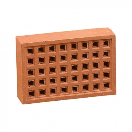 Hepworth Square Hole Airbrick Red 140mm