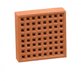 Hepworth Square Hole Airbrick Red 215mm