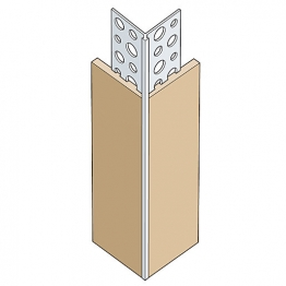Expamet White Plastic Thin Coat Angle Bead 3mm X 2.5m