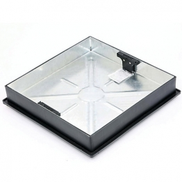 Clark-drain Recessed Square To Round Pavior Manhole Cover And Frame 450mm Diameter