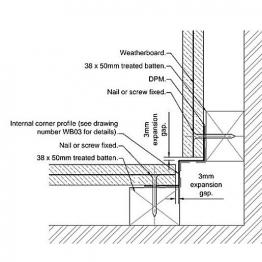 Cedral Internal Corner L=3m Alu C07 Cream White