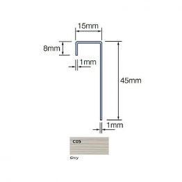 Cedral Connection Profile 45/15/8 L=3m Alu C05 Grey