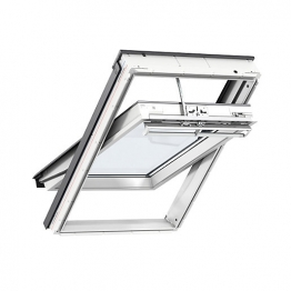 Velux Integra Electric Roof Window 1340mm X 1400mm White Polyurethane Ggu Uk08